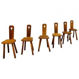 Midcentury Brutalist Dining Chairs, 1950s