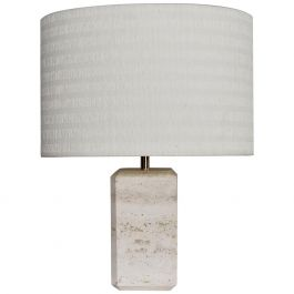 Mid-Century Italian Travertine Marble Table Lamp, 1960s