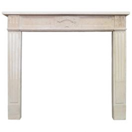 A 19th Century French Stone Louis XVI Style Fireplace Mantel