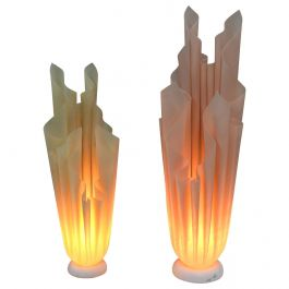 Pair of Athena Table Lamps by Georgia Jacob