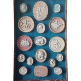Set of 17 Plaster Prints of Cameo Scenes