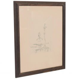 French Embossed Original Etching of The Search by artist Alberto Giacometti 1960