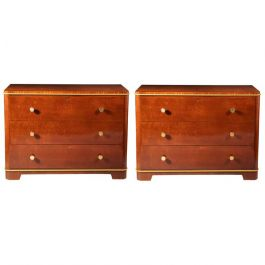 Pair of Art Deco Commodes by DE COENE FRERES