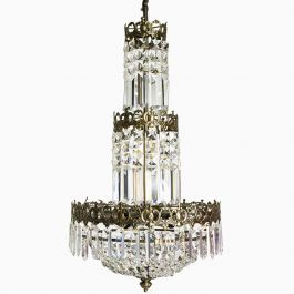 Tapper Crystal Chandelier with Six Lights