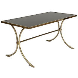 Brass and opaline coffee table