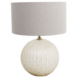 A Smarnia Large Spherical 1970's Murano Glass Table Lamp