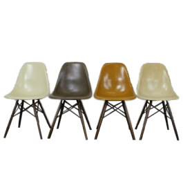 Eames Herman Miller Dsw Side Chairs In Browns