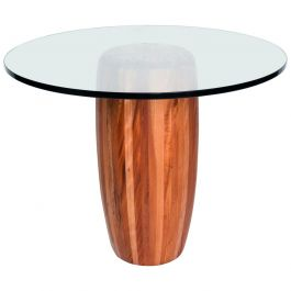 Mexican Modernist Cedar Wood Pedestal Center Table