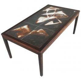 1960s Ole Bjorn Krüger Tile Topped Coffee Table in Rosewood