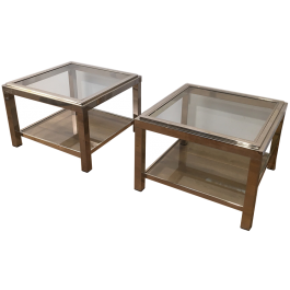 Pair Of Chrome Side Tables. Circa 1970