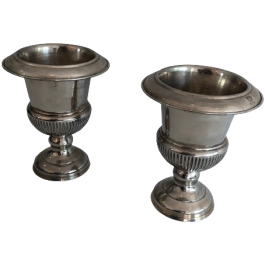 PAIR OF MEDICIS SILVER PLATED CHAMPAGNE BUCKETS