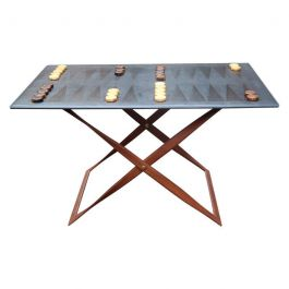 Saddle Leather Backgammon Table