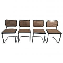 Mid-Century Modern Italian Set of 4 Chrome