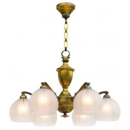 ANTIQUE FRENCH SIX LIGHT CHANDELIER C1920S FRANCE