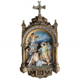 Antique Stations of the Cross XI 19th Century France, circa 1850