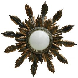 Midcentury Spanish Sunburst Wall or Ceiling Light Sunray Sconce