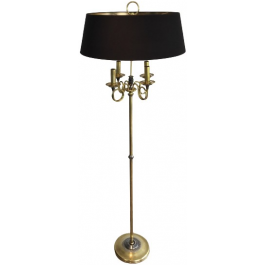 BRUSHED STEEL AND BRASS FLOOR LAMP