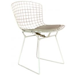 VINTAGE WHITE BERTOIA SIDE CHAIR