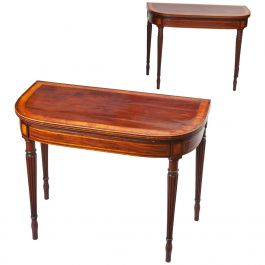 George III Mahogany Card Tables Attributed to Gillows