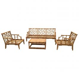 Mid-Century Modern Italian Bamboo Living Room Set by Vivai del Sud, 1970s