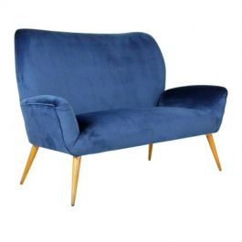 Stylish Italian Sofa in Blue, 1950s