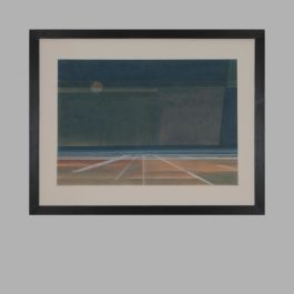 Composition' By Unknown Artist. Oil On Cardboard Mounted On Masonite. Denmark, 20th C