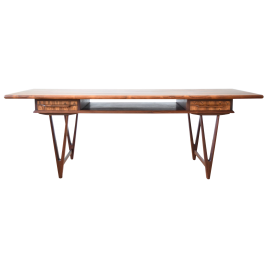 Mid-Century Danish Rosewood Model 32 Coffee Table by EW Bach for Toften Møbelfabrik, 1960s