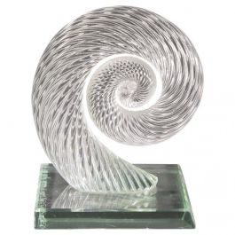 Yoichi Ohira Abstract Glass Sculpture
