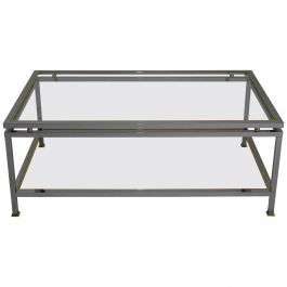 Mid-Century Modern French Two-Tier Coffee Table by Maison Jansen, 1970s