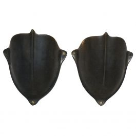 Brass Wall Sconces, Shield Shaped