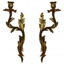Pair of Louis XV Style Single-Arm Sconces
