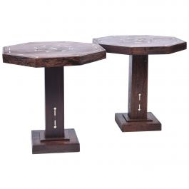 Pair of Art Deco Partridge Wood Side Tables