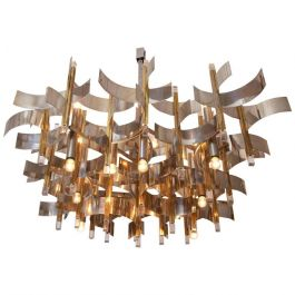 Sciolari Italian Chrome  Chandelier
