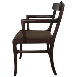 1960s Ole Wanscher Mahogany Armchair with Horsehair Upholstery