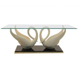 Exquisite Maison Jansen Swan Table, Signed