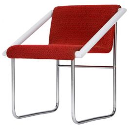 Czech Tubular Steel Ladies Chair, 1960