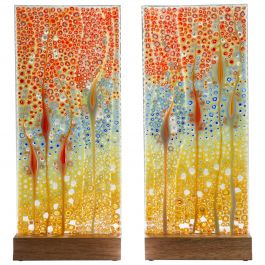 Takamaka the Reef Diptych, a multi-coloured Glass Sculpture by Sandra a. Fuchs