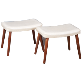 Mid-Century Danish Teak Stools, Set of 2