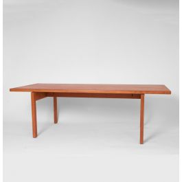 Coffee Table By Hans Wegner. Made By Andreas Tuck. Oiled Oak. Denmark 1960s