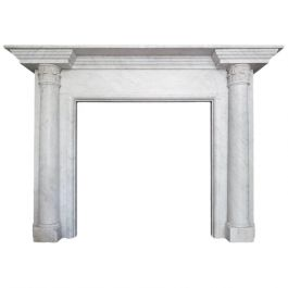 Architectural George III Fireplace Mantel in Carrara Marble