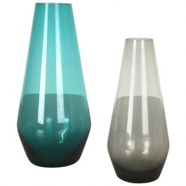 Vintage 1960s Set of Two Turmalin Vases by Wilhelm Wagenfeld for WMF, Germany