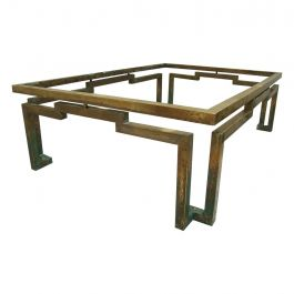 Mid Century Mexican Modernist Arturo Pani Rectangular Coffee Table in Brass