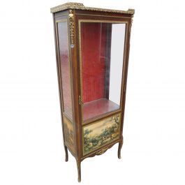 20th Century Vernis Martin Style Display Cabinet by H&L Epstein