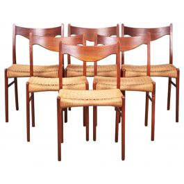 Teak Dining Chairs by Arne Wahl Iversen for Glyngøre Stolefabrik, 1960s, Set of 6