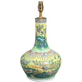 Famille Jaune Vase as a Lamp