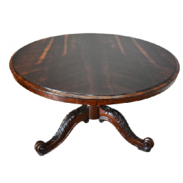 19th Century William IV Rosewood Circular Dining Table