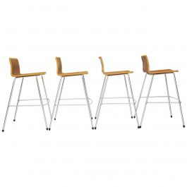 Modern Umanoff Style Set of 4 Tall Vintage Bar Stools, Australia