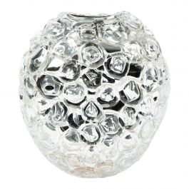 Bubblewrap in Clear, a Unique silver & clear glass Vase by Allister Malcolm