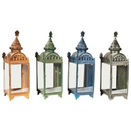 Four Painted Metal and Glass Wall Lanterns