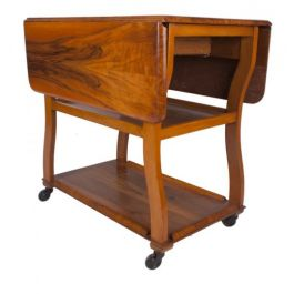 Walnut Art Deco Table Trolley